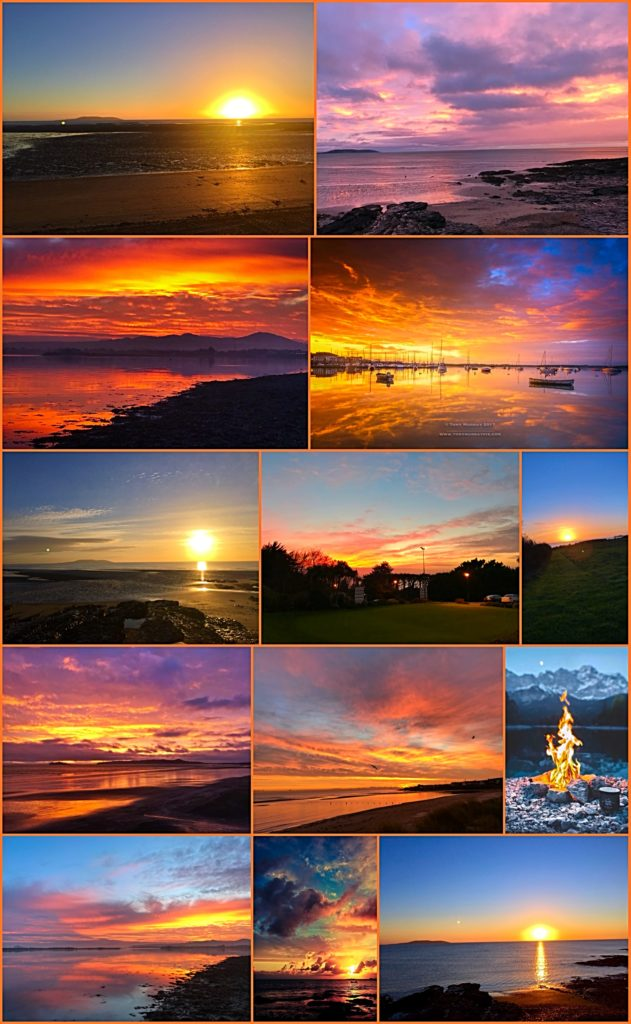 Beautiful Howth Golf Club Sunsets, Dublin, Ireland