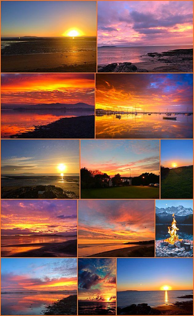 Beautiful Howth Golf Club Sunsets, Dublin, Ireland