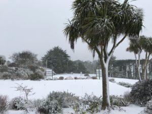 Howth Golf Club Snow