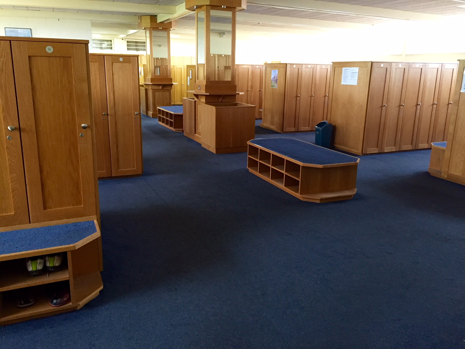 Howth Golf club, Dublin, Ireland, Lockeroom