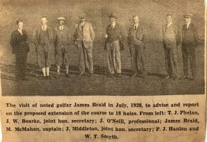 JAMES BRAID AT HOWTH GOLF CLUB, DUBLIN
