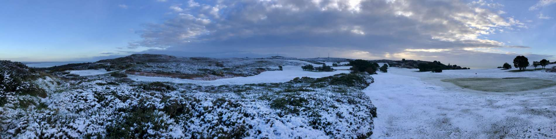 Snow at Howth Golf Club Dublin, Ireland
