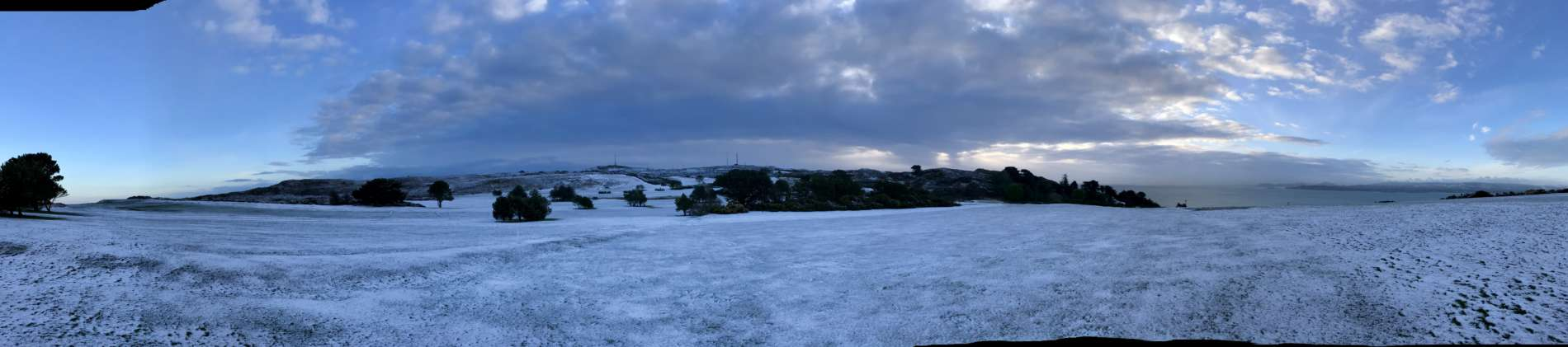 Snow at Howth Golf Club Dublin