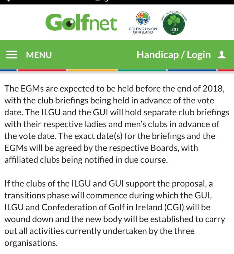 golf union - Howth Golf Club
