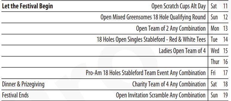 Open Fixtures @howthgolfclub