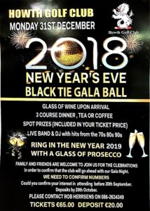 New year's Eve Gala ball @Howth Golf Club