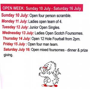 open week 1