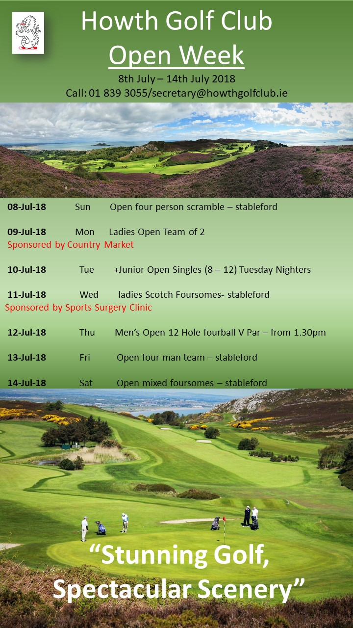 Howth Golf Club Open Week 2018